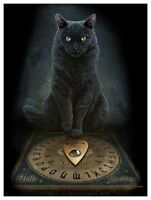 ORACLE OUIJA CAT CANVAS 'HIS MASTERS VOICE' BY LISA PARKER MYTHICAL WALL ART