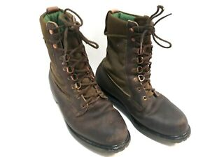 Vintage Browning Leather Canvas Boots 02309 Size 7 D Gore-Tex Olive Made in USA