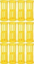 Hair Setting Rollers & Plastic Pins For Curls YELLOW 22mm diameter Pk 12 Skelox