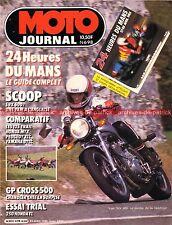MOTO JOURNAL  698 YAMAHA 600 SRX DTLC 125 FZ HONDA MTX PEUGEOT XLC HONDA VF 750