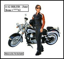 BIKER JANE FIGURE FOR 1:12 MODELS BY AMERICAN DIORAMA 77712