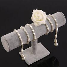 Jewelry Rack Bracelet Watch Necklace Stand Organizer Holder Display Gray PJ