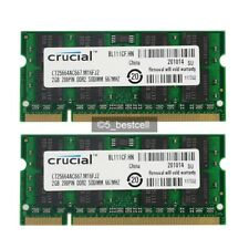 New 4GB 2X2GB PC2-5300 DDR2-667MHZ PC5300S 200Pin Laptop RAM Memory Low Density
