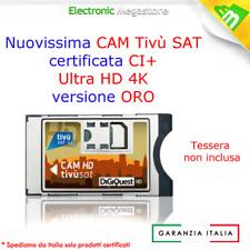 CAM TivuSat HD 4K UNIVERSALE CI+ CERTIFICATA TIVUSAT DIGIQUEST SENZA SMART CARD