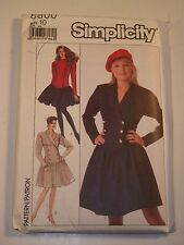 S-8800 Dress Sewing Pattern Simplicity Size 10 Cut & Complete Rare