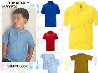 POLO SHIRTS KIDS BOYS GIRLS CHILDREN ADULTS PE SCHOOL SPORTS NEW SUMMER UNIFORM