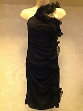 WOMANS Nero Catherine Malandrino black silk dress size 6