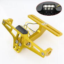 CNC Motorcycle License Plate Holder LED Tail Light Fender Eliminator For Honda