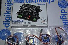Digikeijs™ Servodecoder DR4024 digital +4x Servo 9G + 4x Verlängerungskabel H0 N