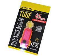 Nitecore T Series Tube 45 Lumens USB Rechargeable LED Keychain Flashlight - Pink