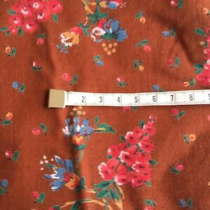 Vintage French Faced Fabric Remnant