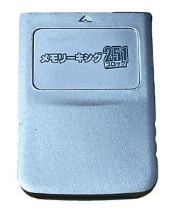 Silver Memory Card For Nintendo GameCube 251 Blocks Ex Japanese Stock