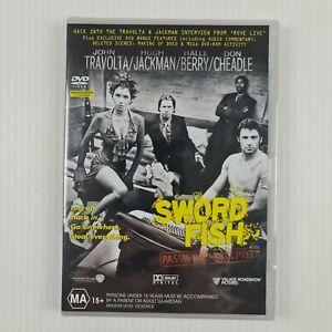 Swordfish DVD - John Travolta - Hugh Jackman - R4 - NEW & SEALED - TRACKED POST