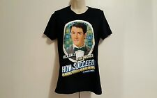Nick Jonas How To Succeed in Business Musical Broadway Women Small Black T-Shirt