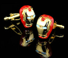 Marvel Comics  Superhero Iron Man Cufflinks Gold/Red