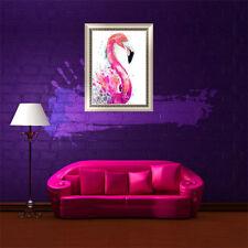Animal Pink Flamingo 5D Diamond Embroidery Painting Cross Stitch Home Wall Decor