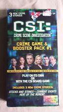 CSI: Crime Scene Investigation Crime Game & Booster Pack #1 NEW Sealed SBG