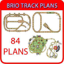 BRIO TRACK TRAIN WOODEN TRAIN THOMAS PLANS 84 LAYOUTS ON DVD + DESIGN SOFTWARE