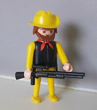 PLAYMOBIL (P506) SAFARI - Explorateur Jaune & Noir Vintage 3413 3433