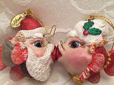 Katherine's Collect Santa Claus Mrs Claus Kissing Fish Rare Christmas Ornament
