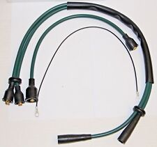 CLASSIC FIAT 500 F L R HT LEADS SPARK PLUG LEADS IGNITION LEADS BRAND NEW GREEN