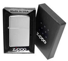 Zippo 207 Street Chrome Lighter Windproof Brushed Chrome Finish FREE SHIP