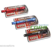 """Lot 3 Magnetic Head Flashlight-Telescoping Work Light 6.75""""-21.5"""" Magnet 3 LEDS"""