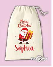 Personalised Santa  Christmas  Stocking Gift Present  Santa Sack Bag
