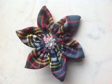 Anderson Modern Tartan Flower Diamante Brooch/Corsage-Hogmanay,Burns Night