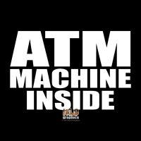 ATM INSIDE Vinyl Sticker for Store Shop Business Window Door Glass
