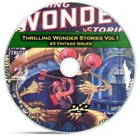 Thrilling Wonder Stories, Vol 1, 43 Classic Pulp Magazine, Fiction DVD CD C59