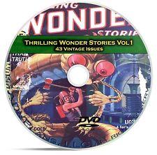 Thrilling Wonder Stories, Vol 1, 43 Classic Pulp Magazine, Fiction DVD CD C59