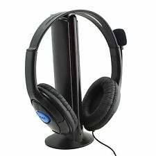 DELUXE HEADSET HEADPHONE WITH MIC VOLUME CONTROL FOR PS4,XBOX ONE S CONTROLLER