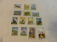 Lot of 14 Cameroon 1977-1982 Stamps, African Wildlife, Endangered Species
