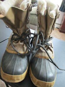 Manitou Sorel Leather Rubber Winter Boots, Men's 10