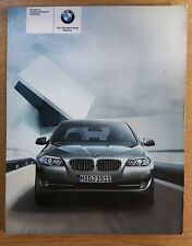 BMW 5 SERIES SALOON F10 OWNERS BOOKLET 2010-2013 PACK G-60