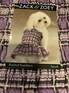 Dog Purple Ruched Sundress S Small Dress