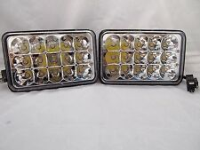 """H4666 4""""X6"""" 165mm H4656 H4  LED CREE CONVERSION Chrome Headlights Replacement"""