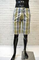 SUNDEK Bermuda Cotone a Quadri Uomo Taglia 30 Pants Pantalone Corto Shorts Men's