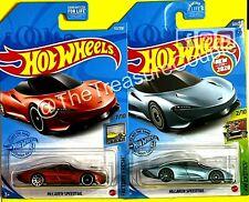Hot Wheels 2021 - Lot of 2 - McLaren Speedtail - 2 COLORS - C214