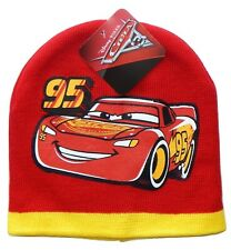 DISNEY CARS 3 LIGHTNING McQUEEN Boys Red Knit Beanie Winter Hat NWT KA-CHOW