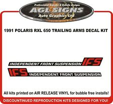 1991 POLARIS INDY RXL 650 Reproduction Trailing Arms Decal Kit