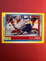 2013-14 O-Pee-Chee Sticker Card #S-CA Carey Price Montreal Canadiens Insert SP