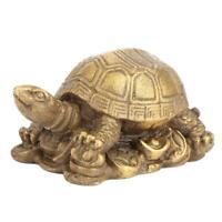 Chinese Brass Copper Tortoise Turtle Wealth Longevity Fengshui Animal Statue