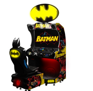 Batmobile Crime Fighting Arcade Game Coin Operated Batman Redemption SEE VIDEO