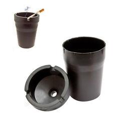 Ashtray Car Ash Bin Black Portable Auto Travel Rubbish Smoke Trash Mini Bucket