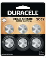 DURACELL 2032 3V Lithium - DL2032 CR2032 - 6 Coin Button BATTERIES *BRAND NEW*
