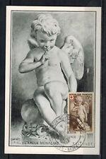 1951-FDC CP 1°JOUR - CROIX-ROUGE & LA POSTE- BADEN-BADEN- TIMBRE Yt.877 -Réf.C53