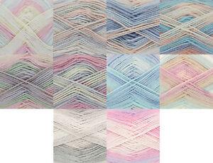 100g Beaches DK Yarn & Free Knitting Pattern King Cole Soft Wool 3 6 or 12 Balls
