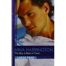 """VERY GOOD"" Nina Harrington, The Boy is Back in Town (Romance Lp), Book"